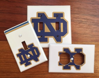 Notre Dame logo Fighting Irish Light switch cover // College Gift // SAME DAY SHIPPING**
