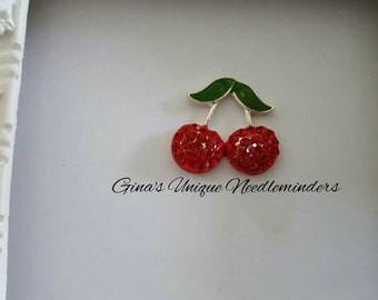 Red Cherries Needle Minder