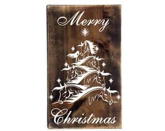 Horse christmas tree | Etsy
