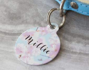 Personalised Blossom Pet ID Tag  - Dog Name Identification