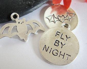 Halloween Charms,Bat Charm,Halloween Word Charm,Vampire Bat Charm,Vampire Word Charm