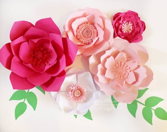 Large paper flowers - Paper flower centerpiece - Valentine's day decor - Paper flower wall decor - Wedding decor
