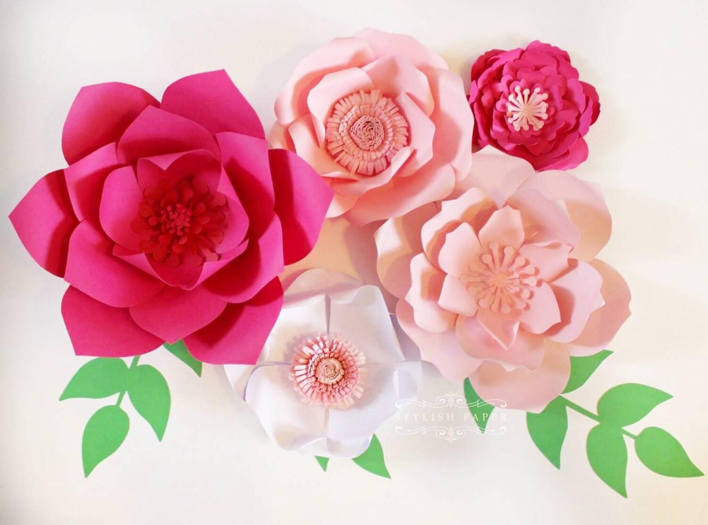 Large paper flowers Paper flower centerpiece