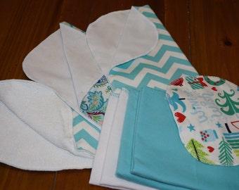 Unpaper Towels  paperless towels flannel napkins sampler housewarming gift teacher gift paperless towels
