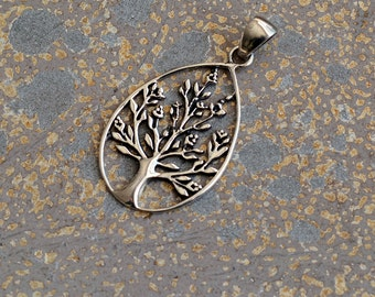 Sterling Silver Tree Pendant, Sterling Silver Tree of Life, Symbolic Pendants, Silver Tree,Boho Pendants,Nature Charms,One  Pendant,KP15-102