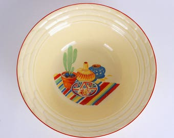 Mt Clemens Serving Bowl w/Mexican Decal