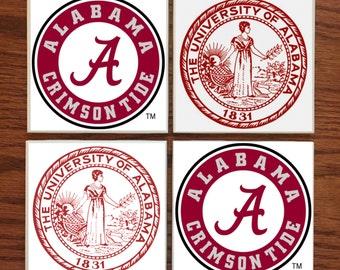 University of Alabama Crimson Tide Tile Coaster Set