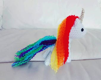 Amigurumi Unicorn, Handmade Crochet Unicorn Toy, CUSTOM COLOUR