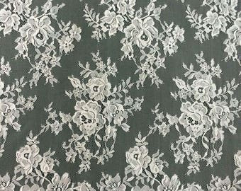 Chantilly Eyelash Lace , Chantilly Lace Fabric, 59 inches Wide for Veil, Dress, Costume, Craft Making, Designourlife lace fabric