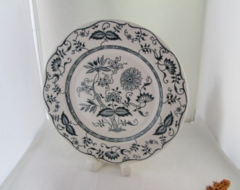 Royal China Cavalier Ironstone Blue and White Dinner Plate Blue Onion Plate Blue plate Blue Ironstone china blue transferware plate