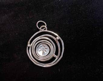 Sterling Silver Starry Pendant