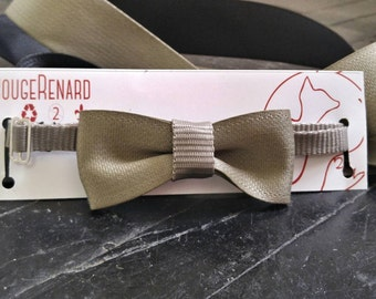 Bow tie on belt reclaimed eco friendly adjustable