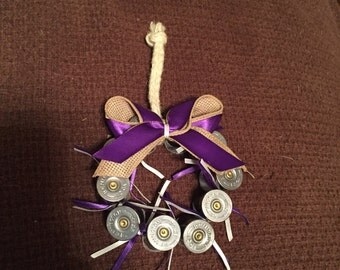 Purple Wreath shotgun shell ornament