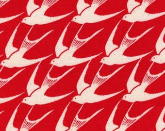 SS Bluebird by Cotton and Steel - Fat Quarter- Flock in Red