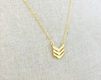 Gold Chevron Simply Stated Necklace