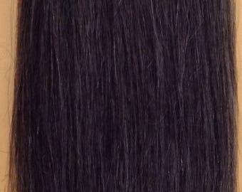 Grey hair extension etsy salt and pepper 100 human weave hair extension straight track grey black mix color pmusecretfo Choice Image