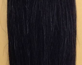Salt and pepper 100 human weave hair extension straight salt and pepper 100 human weave hair extension straight track grey black mix color pmusecretfo Image collections