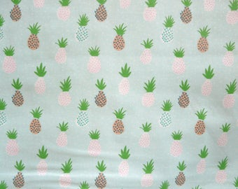 Fabric - Rico - Mint pineapple - woven cotton