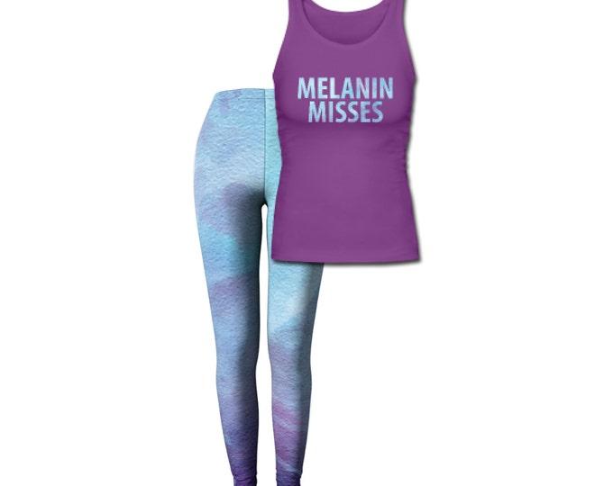 Melanin Misses Women's Tank Top/Leggings Combo Set - Purple