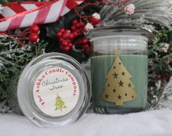 SALE - CHRISTMAS TREE Soy Wax Candle! Christmas Candle, Strong Pine Candle, Christmas Gift, Pine Soy Candle, Ashka Candles, Primitive Candle