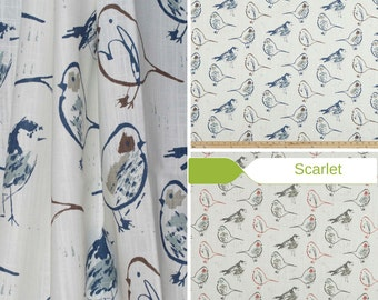 Toile Valance - Window Valance or Cafe Curtain - Premier Prints Bird Toile Collection - Made to Order in Multiple Sizes and Colors
