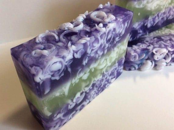 Lavender Cedar~Glycerine Luxury Soap~Shea, Cocoa and Mango Butters~
