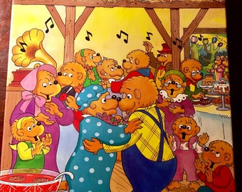 The Berenstain Bears Special Edition 63 Pcs Vintage Puzzle, Ages 5 to 10, 1993 by Stan & Jan Berenstain, Golden, and Western Publishing Co.