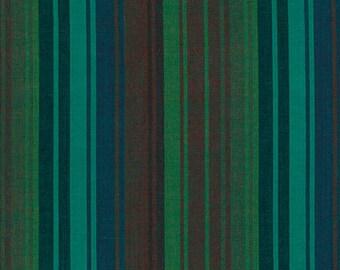 1/2 yard Kaffe Fassett Exotic Stripe Mallard fabric