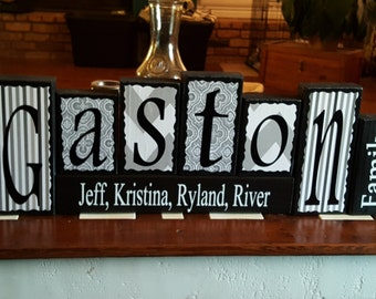 Personalized Wooden Name Block Sets
