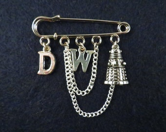 Doctor Who dalek kilt pin brooch (50 mm).