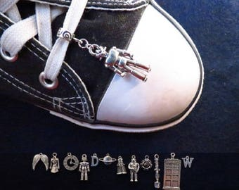 Doctor Who shoe charm with the charm of your choice.