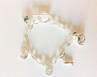 Horse Charm Bracelet, Gift for Horse Lover, Charm Bracelet, Gift for Horse rider, Equestrian Gift, Dressage Gift, horseriding Charms