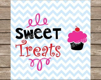 Cupcake svg Sweet Treats SVG Birthday svg Sweet Sixteen svg Sweet 16 svg Party svg file cutting file silhouette cameo cricut cut file DXF