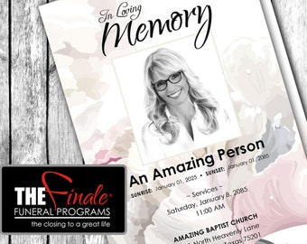 SOFT FLORAL FRAGRANCE ... (printable funeral program template) Microsoft Word Document