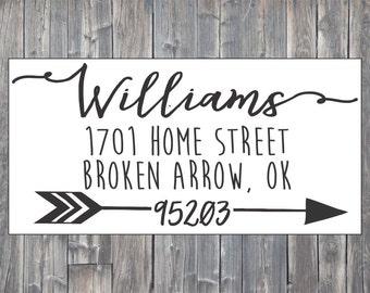 Self-Inking Custom Address Stamp