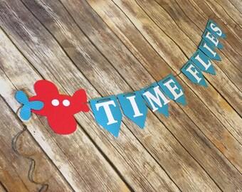 Time Flies Airplane Banner, Airplane Banner, Time Flies, Time Flies Birthday, Time Flies Banner, Airplane Party, Airplane Birthday, Airplane