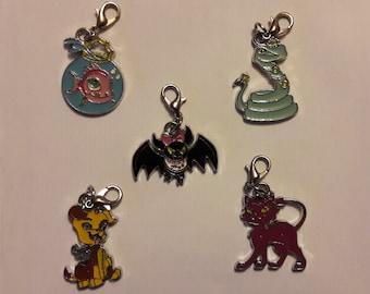 SALE - Monster High enamel charm - Neptuna, Hissette, Count Fabulous, Watzit, Cresent