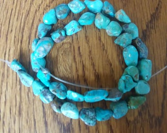 """Genuine Turquoise Nugget Beads - 16"""" Full Strand (2014060-4)"""