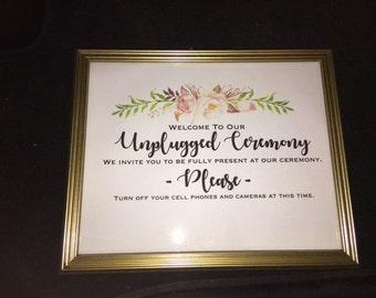 Unplugged Ceremony Print