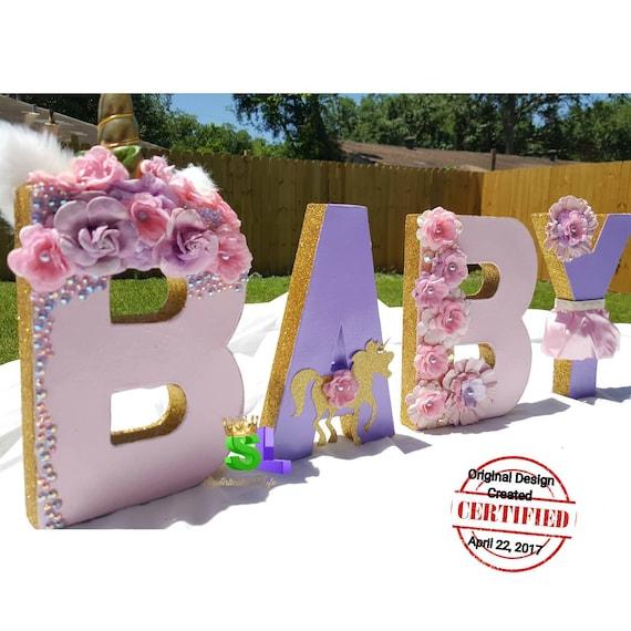 Baby Shower Unicorn ~ Unicorn letters baby shower