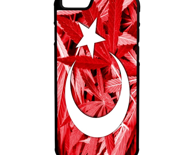 Turkey Weed Flag iphone Galaxy Note LG Hybrid Rubber Protective Case