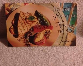 Bon Appetit Favorites ! New for the 90's volume 2, c 1992 , cookbook