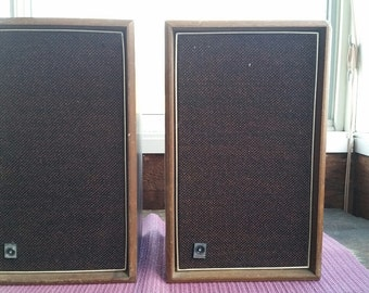 PAIR of Vintage Sylvania Speakers in Cabinets One Owner Sound Great!
