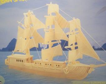 European Sailing Ship Wood Modeling Kit
