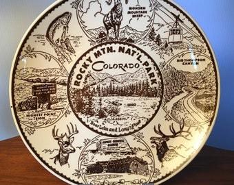 Vintage Rocky Mountain National Park Colorado plate by Enco National