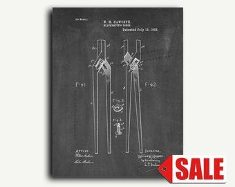 Patent Art - Blacksmith's Tongs Patent Wall Art Print