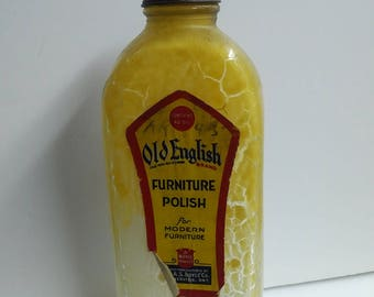 Old English Furniture Polish vintage bottle