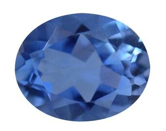 English Blue Quartz Oval Cut Loose Gemstone 1A Quality 10x8mm TGW 2.10 cts.