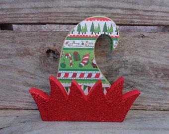Christmas Decor- Christmas Decorations- Elf Decor- Chunky Elf Hat