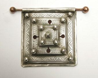 Fine Mauritanian Tuareg all silver talisman box or tcherot